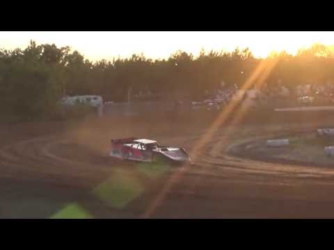American Ethanol Late Model Heat Race #1 at Mount Pleasant Speedway 08-19-16.