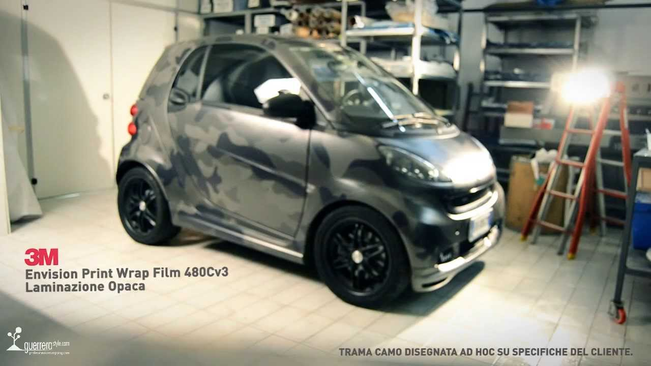 Smart Brabus Car Wrapping Camo By Guerrerastyle Com Youtube