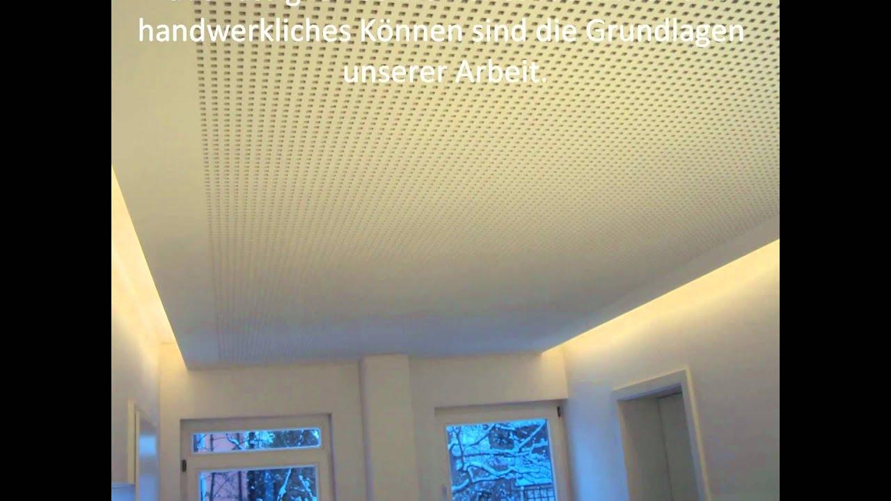 Trockenbau in Mnchen wwwtrockenbaumucde Akustikdecke