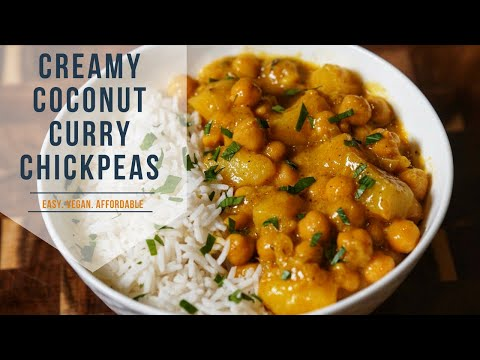 Vegan Chickpea Curry|Coconut Curry Chickpeas| ➡️ VEGAN, CHEAP & TASTY AF🔥