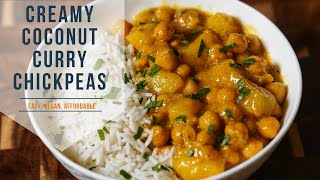 Vegan Chickpea CurryCoconut Curry Chickpeas  VEGAN, CHEAP &amp TASTY AF