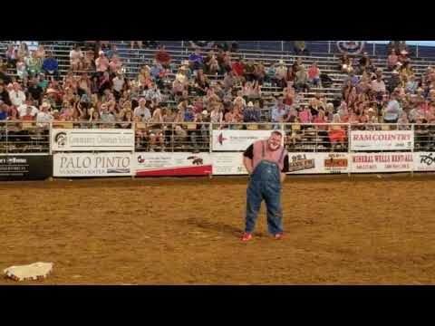 Clown Act Mineral Wells Rodeo 5-11-2018