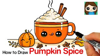 How to Draw a Pumpkin Spice Latte Easy