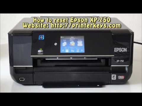 Reset Epson XP 750 Waste Ink Pad Counter