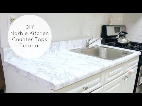 Cheap & Easy DIY Marble Kitchen Counters