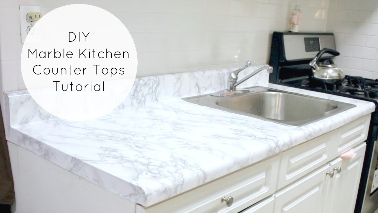 Inexpensive Countertops For Kitchens Small Kitchen Tables Cheap Easy Diy Marble Counters Youtube