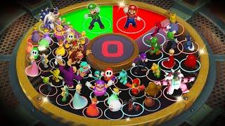 Super Mario Party MiniGames - Luigi Vs Mario Vs Yoshi Vs Dry Bones (Master Cpu)