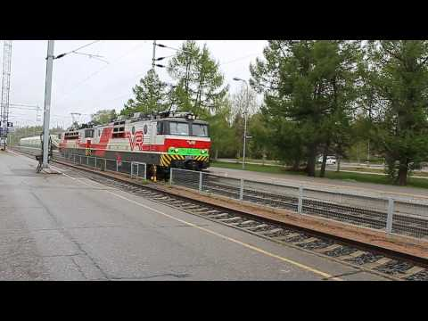 VR Class Sr1 3002 and 3063 at Rovaniemi station