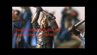 A short tutorial explaining how to paint the Warriors of the last A...