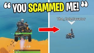 I Fooled Players Into JUMPING OFF The Map for a FAKE GLITCH on Fortnite! (hilarious)