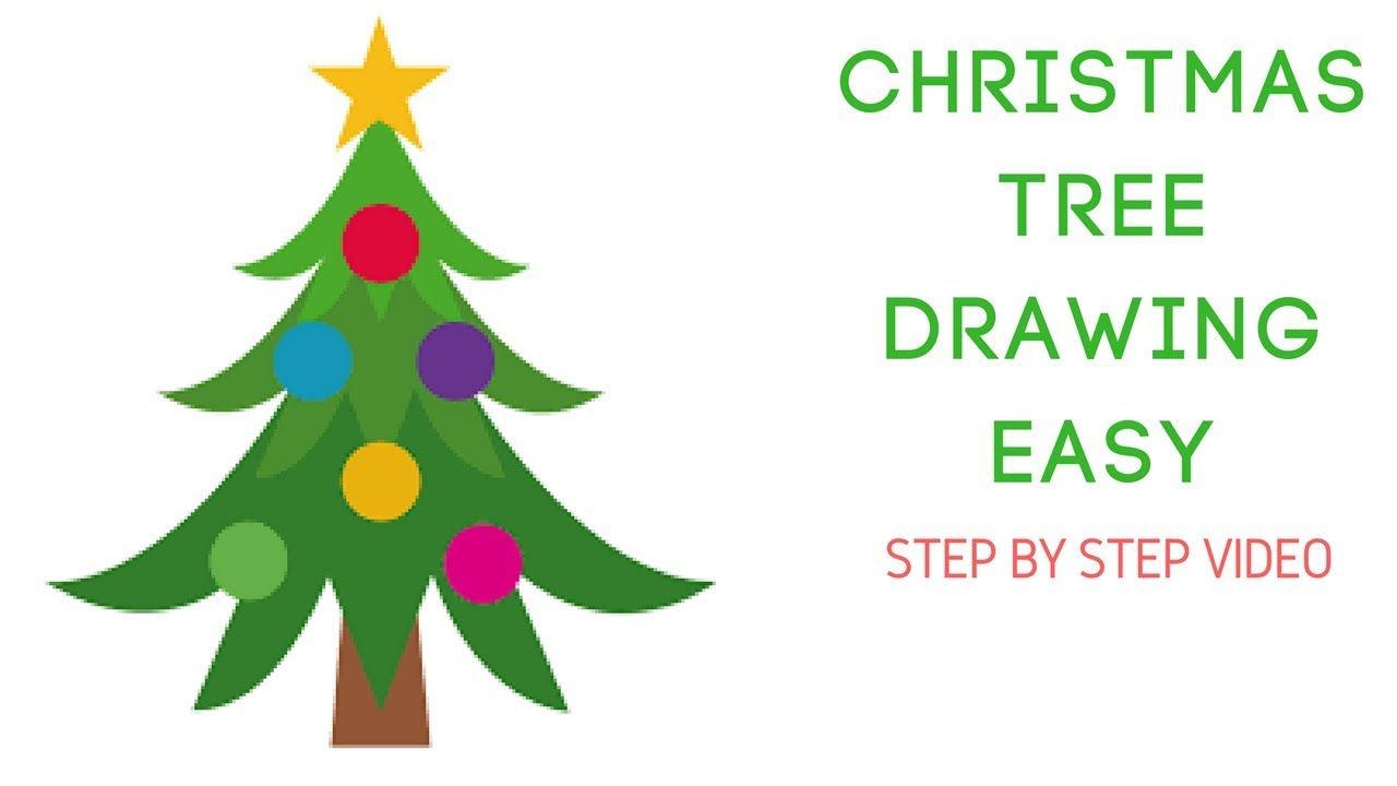How To Draw Christmas Tree Video Christmas Tree Drawing Step By