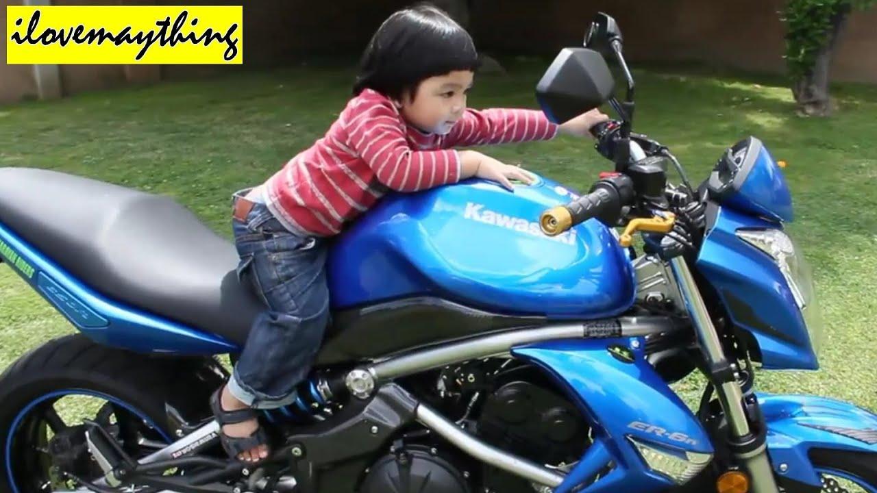 My Son Hulyan And The Blue Kawasaki Er