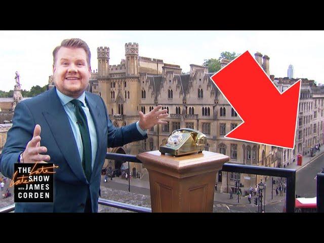 James Corden Surprises Londoner with VIP Tickets #LateLateLondon