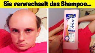 mädchen verwechselt Haarentferner mit Shampoo.. 😂