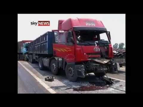 China  Nine Killed In 56 Car Motorway Pile up