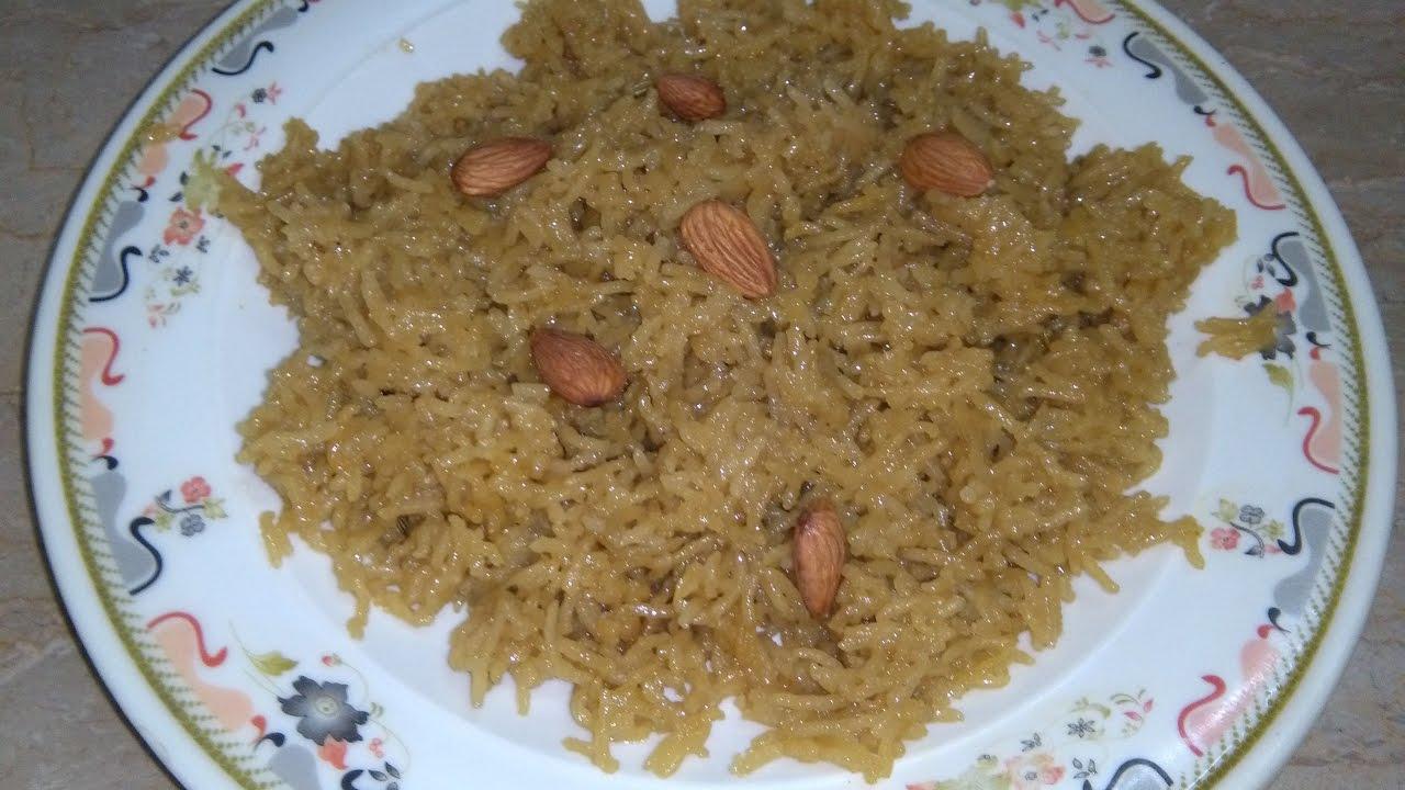 Jaggery Rice Recipe   Gur Walay Chawal Recipe   Sweet Rice ...