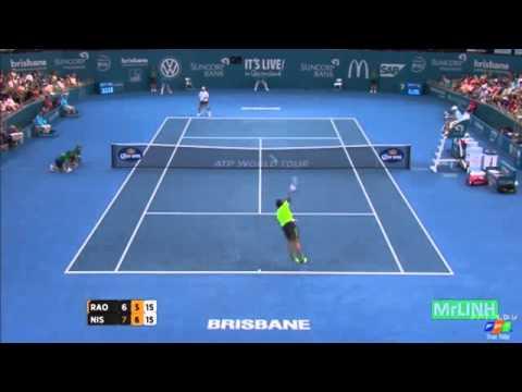 Kei Nishikori vs Milos Raonic Highlights 2015 Brisbane SF
