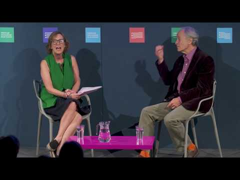 Richard Ford with Kirsty Wark at the Edinburgh International Book Festival