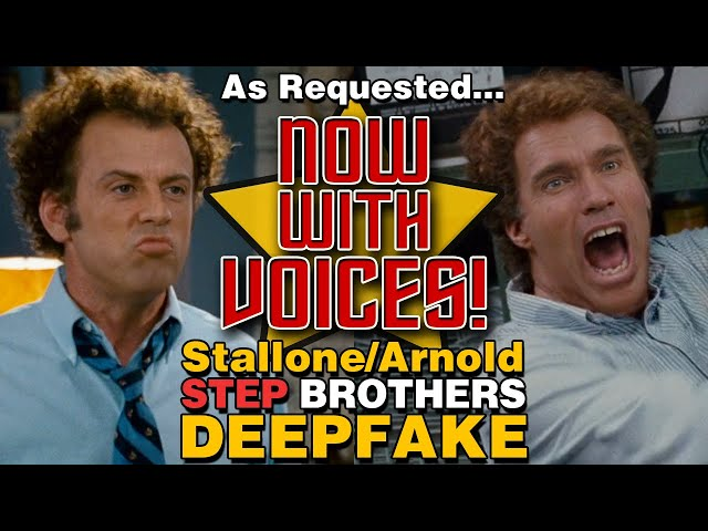 Arnold Schwarzenegger and Sylvester Stallone Now With Voice Overs!  Step Brothers Deepfake