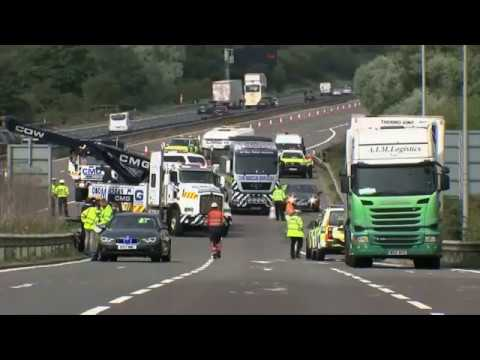 Two lorry drivers jailed over fatal M1 crash