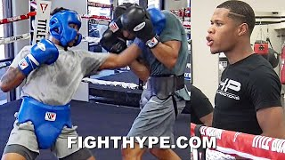 "DEVIN HANEY GIVES ""GRADUATE"" SPARRING ADVICE TO AMARI JONES, WHO TRADES BLOWS WITH SPARRING PARTNER"