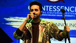 Ayushmann Khurana Live Performance at Lady Irwin College Annual Cultural Fest 2019   DU