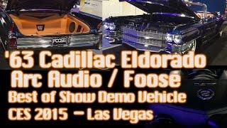 Amazing '63 Cadillac Eldorado - Best of Show Demo Vehicle CES 2015 Arc Audio / Foose