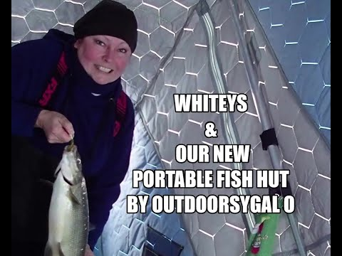 Whitey's & Our New Portable Fish Hut By OUTDOORSYGAL O