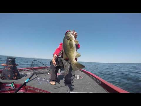 Austin Felix Catching Big Smallmouth on Lake Champlain