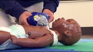 How to do CPR on an Infant who has a Trach Tube (Ages Newborn to 1 Year)