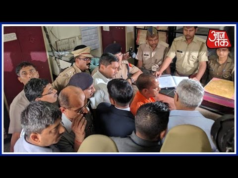 Yogi Adityanath's Surprise Visit At Hazratganj Police Station, Lucknow
