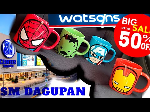 sm-dagupan-sale-watson-miniso-haul-marvel-avengers-ironman-spiderman-hulk-captain-america-mugs-epic