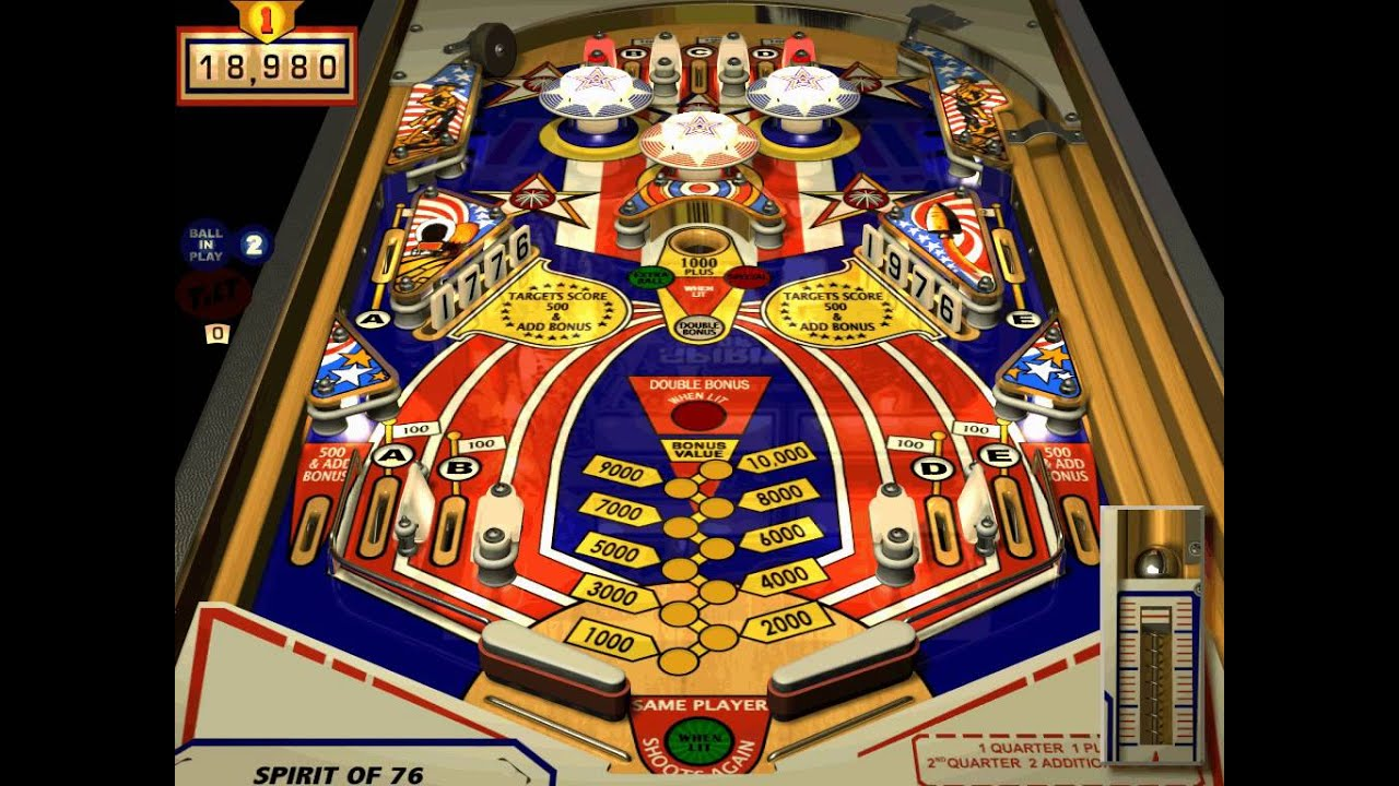 Microsoft Pinball Arcade  Spirit of 76  YouTube