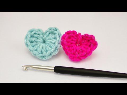 Kleines Herz häkeln | Super einfache Anleitung für Anfänger | Häkeln mit Wollresten | ♥ DIY