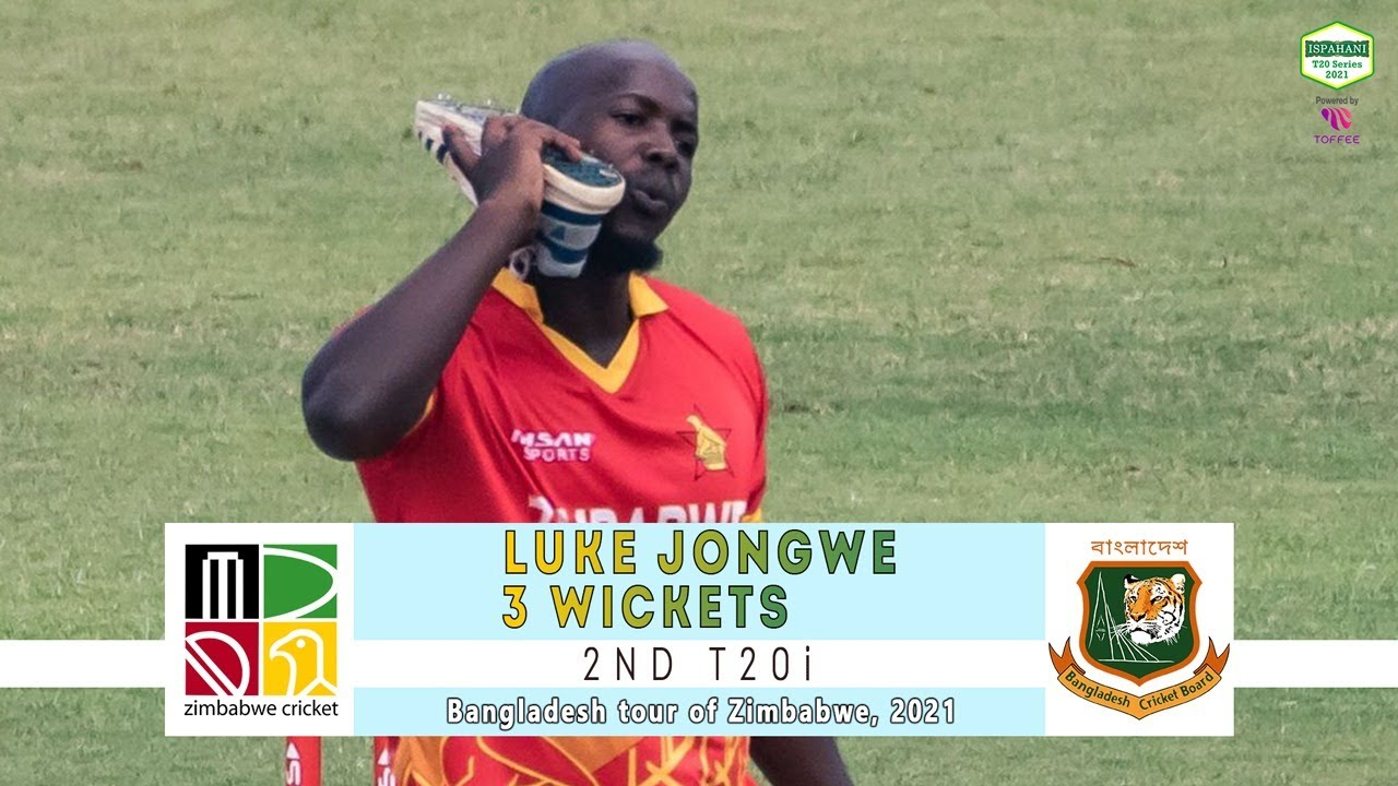 Luke Jongwe's 3 Wickets Against Bangladesh | 2nd T20i | Bangladesh tour of Zimbabwe 2021