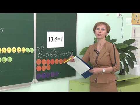 Видеоурок по математике 1 класс сложение и вычитание в пределах 20
