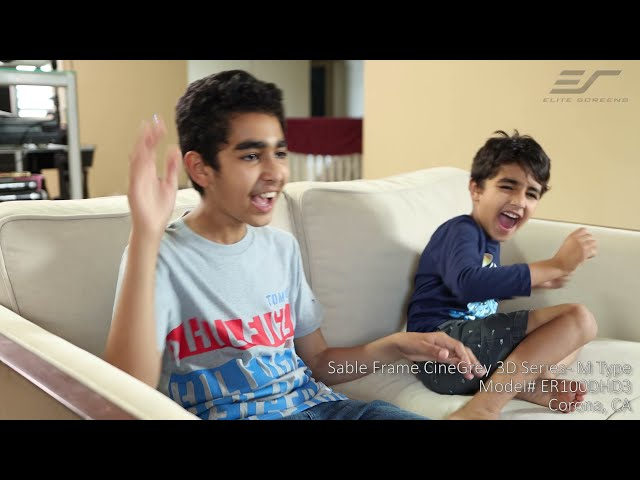 Elite Screens Sable Frame CineGrey 3D® Ceiling Ambient Light Rejecting Fixed Frame Projector Screen