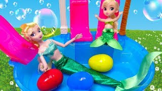 The Swimming Pool Song Princess Frozen Elsa Toddler Nursery Rhymes Song for Kids