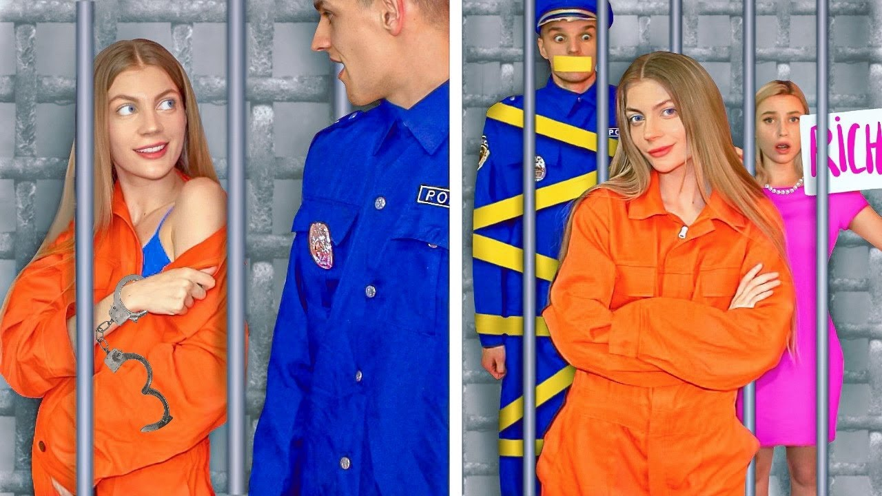 Rich Jail vs Broke Jail! 14 Funny Situations & DIY Ideas by Mr Degree