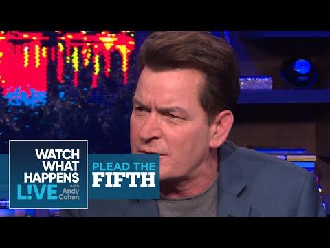 Charlie Sheen Ranks Selma Blair, Lindsay Lohan, And Heather Locklear | Plead the Fifth | WWHL