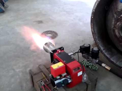 Gas burner for boiler