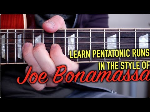 Joe Bonamassa's Pentatonic Sequences
