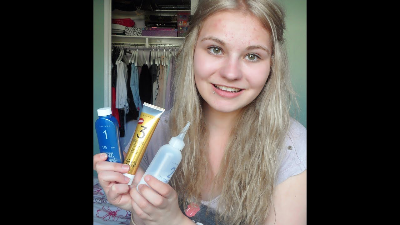 How I Dye My Hair Blonde To Dark Ash Blonde Youtube