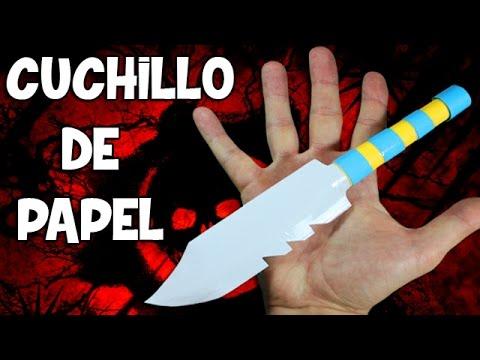 Como hacer un cuchillo de papel armas de papel youtube for Como pulir un cuchillo