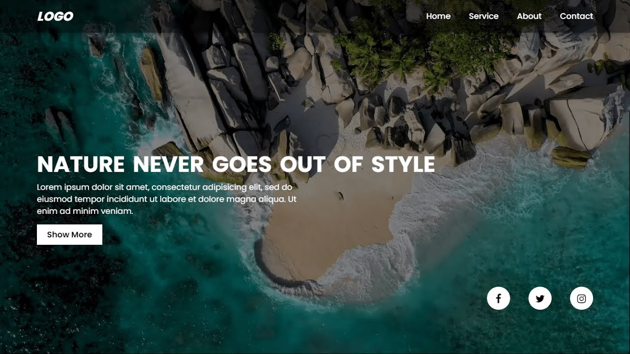 Build A Website Using HTML And CSS Website Tutorial