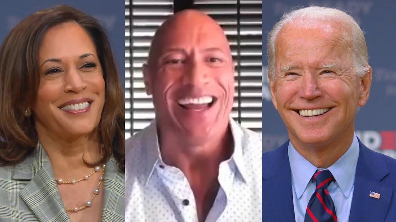 Dwayne Johnson Discusses 2020 Presidential Endorsement with Joe Biden & Kamala Harris