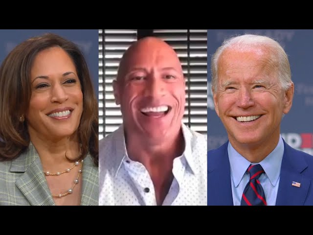 Dwayne Johnson Discusses 2020 Presidential Endorsement with Joe Biden & Kamala Harris