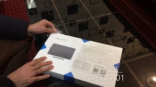 XP PEN Deco 01 QUICK UNBOXING