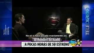 Henry Cavill, protagonista de EL HOMBRE DE ACERO, en entrevista para Telediario