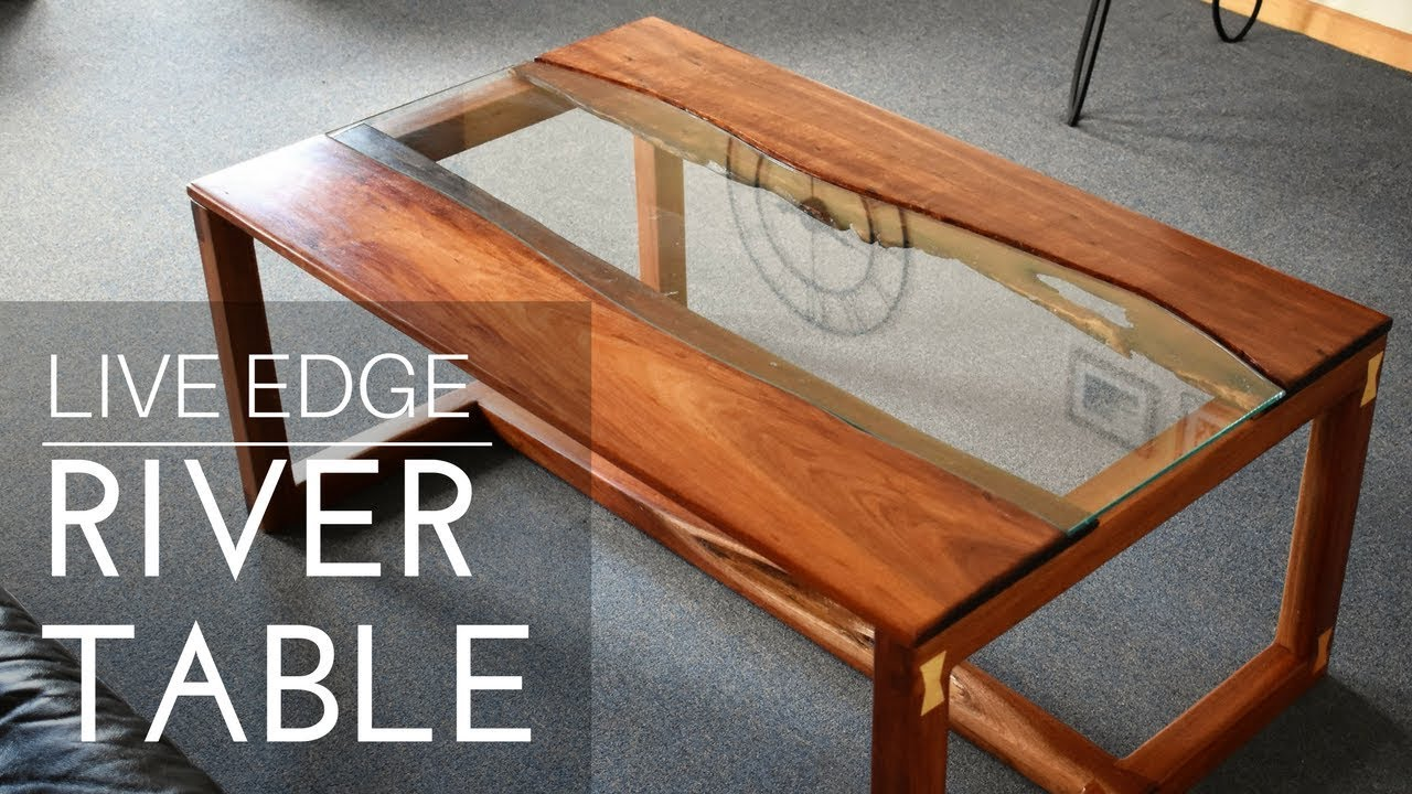 Live Edge River Coffee Table Youtube